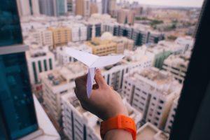 Paper aeroplane - RedSeven